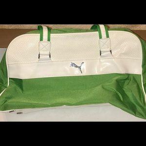 Rare Puma Travel Bag Green And White